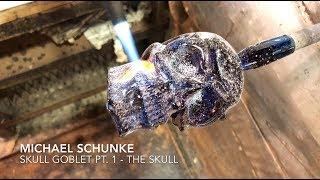 Download Glass artist Michael Schunke creates a Skull Goblet Pt. 1 - The Skull Video