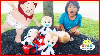 Download Captain Underpants Rescue Bad Boss Baby on Disney Cars Lightning McQueen Kids Pretend Play Video