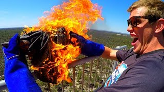 Download FIRE ANVIL Vs. DEODORANT CANS from 45 TOWER!! Video