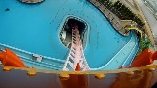 Download Diving Coaster Vanish Roller Coaster POV Cosmoworld Yokohama Japan 1080p HD Video