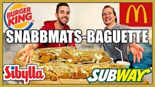Download Vi fyller Baguetter med MASSA snabbmat (Mcdonald's, Subway, Burger King, Sibylla) Video