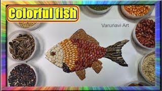 Download Melukis kolase Ikan Nemo dengan Biji bijian | Learn colors for children Nemo Collage Video