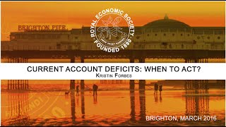 Download Current Account Deficits: When To Act? - RES 2016 Video