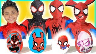 Download NEW Spiderman into the Spider-Verse Play-doh Surprise Eggs kids toys video superheroes Miles Morales Video