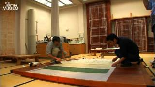 Download Conserving the Gan Ku Tiger scroll painting at the British Museum Video