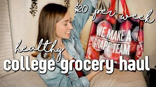 Download HEALTHY COLLEGE GROCERY HAUL - $22 per week budget Video