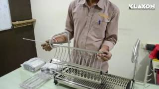 Download Double Shelf Multipurpose Dish Holder Cutlery Stand G0211IT0008 Video