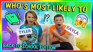 Download WHO'S MOST LIKELY TO? BACK TO SCHOOL EDITION | We Are The Davises Video