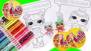 Download Speed Coloring LOL Surprise Babies & Color Changing Lil Sisters Blind Bag Toys and Dolls Fun | SWTAD Video