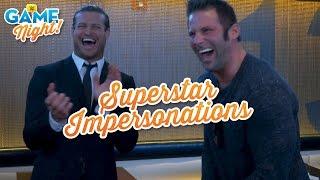 Download Superstar impersonation challenge: WWE Game Night Video