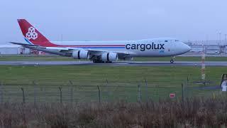 Download CLX B747-8F (LX-VCI) Emergency Landing Prestwick Airport - [4K/UHD] Video