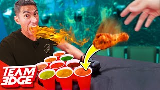 Download Spicy Cup Pong Challenge! | Carolina Reaper Hot Sauce!! Video