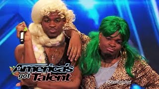 Download Hudson Brothers: Howie Mandel Uses Golden Buzzer on Hip-Hop Humor Act - America's Got Talent 2014 Video