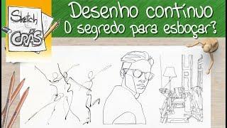 Download Desenho CONTÍNUO, o segredo para ESBOÇAR? - Sketch Crás Video