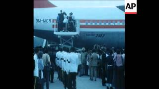 Download SYND 16 1 76 BODY OF PRIME MINISTER RAZAK RETURNS FROM LONDON Video