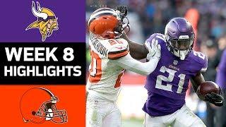Download Vikings vs. Browns | NFL Week 8 Game Highlights Video