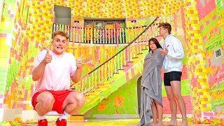 Download WORLDS BIGGEST STICKY NOTE PRANK {TEAM 10 MANSION} Video