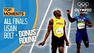 Download Usain Bolt | ALL Olympic finals + Bonus round | Top Moments Video