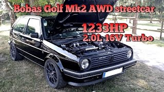 Download Brutal Golf Mk2 1233HP 16V Turbo Acceleration from Boba Motoring!!! FULL VIDEO 2015 Video