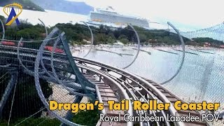Download Dragon's Tail Roller Coaster POV - No Brakes! Royal Caribbean Labadee Video