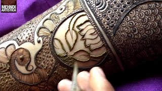 Download Marriage Special Easy Bharwa Floral Mehndi Design For Hand | New Mehendi Design by MehndiArtistica Video