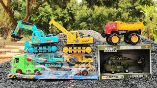 Download Construction Vehicles Toys   Excavator , Truck, Helicopter Toys, Wheel Loader , Crane truck Video