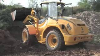 Download La pala gommata Palazzani PL 185 al lavoro in cava Video
