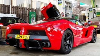 Download FERRARI LaFerrari at the Gas Station! Start Up + Acceleration + Ferrari ENZO Video
