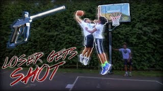 Download HE GOT DUNKED ON! King of the Court | Loser gets shot with PAINTBALLS Video