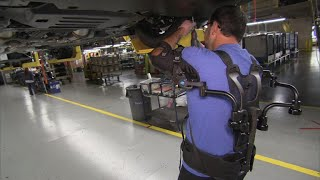 Download Inside Ford's plan to use exoskeleton vests to prevent injuries Video