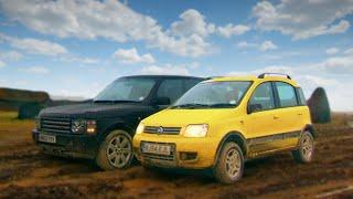 Download Fiat Panda 4x4 vs Range Rover - Fifth Gear Video