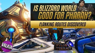 Download Overwatch Blizzard World Tour - Flanking route guide + Pharah play guide || Valkia Video