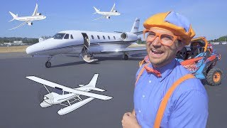 Download Blippi Flies in a Private Jet | Airplanes for Kids with The Airplane Song Video