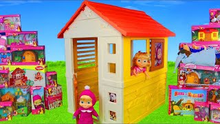 Download Masha and the Bear Unboxing: Playhouse, Dolls, Surprise Toy Vehicles & Kitchen for Kids Video