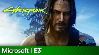 Download Cyberpunk 2077 Full Presentation With Keanu Reeves  Microsoft Xbox E3 2019 Video