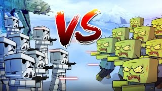 Download Minecraft | 1000 Zombies vs 350 Storm Troopers! (Star Wars Massive Mob Battles) Video