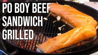 Download Po Boy Beef Sandwich grilled by the BBQ Pit Boys Video