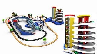 Download car cartoon for children - car parking for kids - toy cars - cartoon cars - trains for children Video