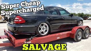 Download I Bought a Supercharged Mercedes AMG from Salvage Auction! Insurance TOTALED it with MINOR Damage! Video