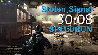 Download The Division - Stolen Signal Heroic Solo Flawless SpeedRun 30:08 [PC#1.8]WR Video