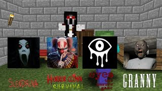 Download Monster School:Granny,Slendrina,Clown survival,Eyes horror game-Minecraft Animation Video