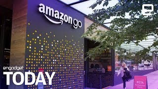 Download Amazon's first cashierless 'Go' supermarket opens for business | Engadget Today Video