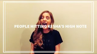 Download 5 PEOPLE HITTING KESHA'S HIGH NOTE! | Part 1 Video