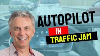 Download Nick's Tesla - Auto Pilot in a Traffic Jam Video