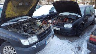 Download Cold Start - 20 °C / -4 °F | 4K | VW Golf Mk4 1.9 TDI 110 Kw VS Subau Forester 2.0 92 Kw Video