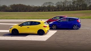 Download Peugeot 208 GTi vs Renault Clio 200 Vs Ford Fiesta ST | Top Gear | Series 20 | BBC Video
