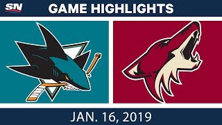 Download NHL Highlights | Coyotes vs. Sharks - Jan. 16, 2019 Video