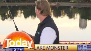 Download Fishing segment on live tv goes horribly wrong Video