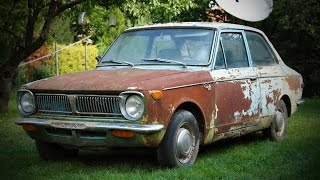 Download 1969 1st generation Toyota Corolla KE11 find, buy and first start after ~15 years Video