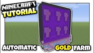 Download Minecraft - AUTOMATIC GOLD & PIGMAN FARM - Tutorial - PS4 / XBOX / MCPE / PS3 / Switch Video